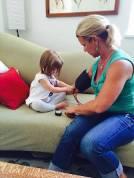 toddler in prenatal visit homebirth midwife Santa Cruz
